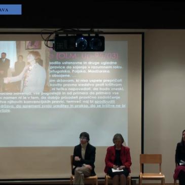 Okrogla miza: Slovenija pred evropskim sodiščem za človekove pravice